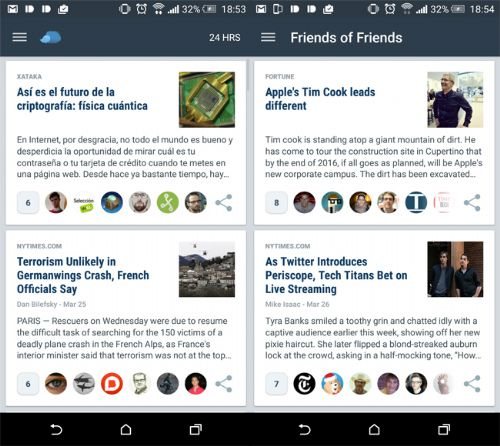 Flipboard, Pocket, Nuzzel, RSS, noticias